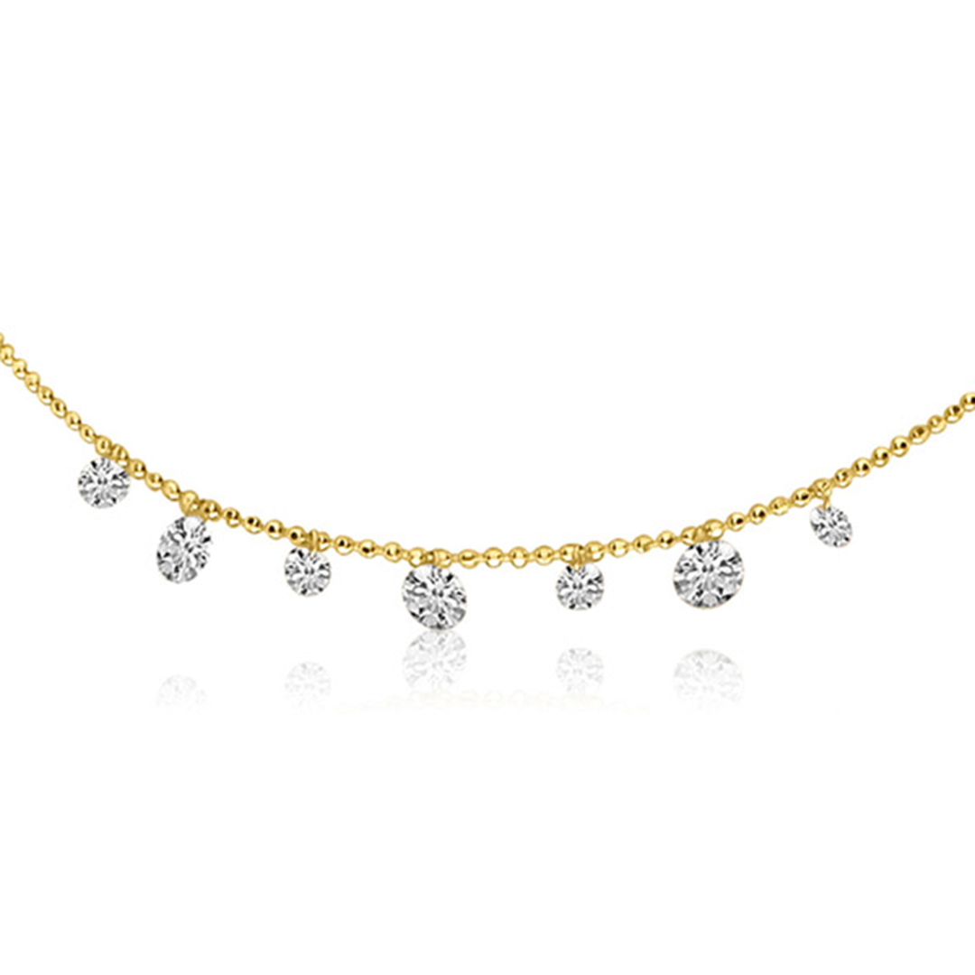 Pierced diamond necklace by Brevani a division of Color Merchants